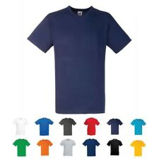 Mens V Neck  Valueweight Plain T Shirt Top Fruit of the Loom SS034