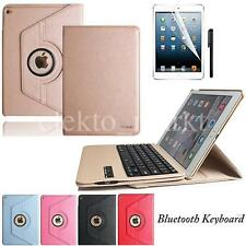 Luxury Removable  Bluetooth Keyboard Leather Case Cover For IPad Air 2 iPad 6