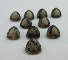 4mm to 20mm Calibrated Natural Smoky Quartz Faceted Cut Trillion Loose Gemstone