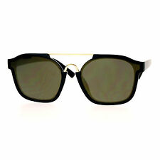 Super Hip Flat Mirror Lens Sunglasses Retro Unisex Fashion Shades
