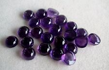 Natural Amethyst Cabochon Round Calibrated Sizes 3mm- 10mm Purple Color Gemstone