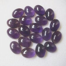 Natural Amethyst Cabochon Oval Calibrated Sizes 3x4mm- 10x12mm Loose Gemstone