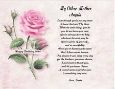 Mom, My Other Mother Personalized Poem Gift For Birthday, Christmas
