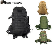 Military Tactical Large Molle 1000D Combat Patrol Pack Hiking Backpack Black A