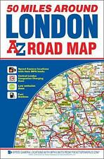 50 Miles Around London Road Map by Geographers A-Z