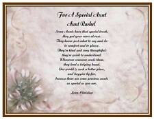 Aunt Personalized Poem Gift For Birthday