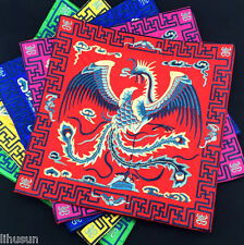Phoenix Chinese Handmade Art Embroidery Vintage Cup&Mouse&Telephone Coaster Mat