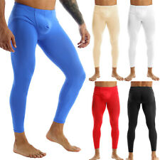 Hot Men Bulge Pouch Tight Leggings Trousers Underwear Thong Brief Pants Trousers