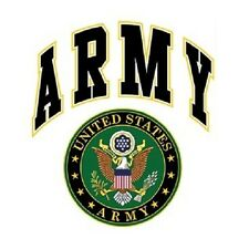 US ARMY SEAL W/CREST T-SHIRT (UNISEX FIT) ARMED FORCES MILITARY ARMY