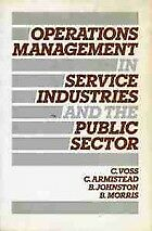 OPERATIONS MANAGEMENT IN SERVICE INDUST: TEXTS & CASES, CHRISTOPHER VOSS, COLIN