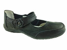 LADIES LEATHER COMFORT VELCRO WALKING CASUAL SANDALS MARY JANE SHOES SIZE 3-8