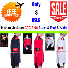 Michael Jackson Costume CTE Armband Epaulet Shirt Three Pieces - Black&Red&White