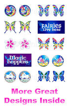 SUNLIGHT WINDOW STICKER / DECAL - Flowers Butterflies Fairies & Fantasy