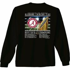 Alabama Crimson Tide 2015 National Champions Long Sleeve T-Shirt Recap Score