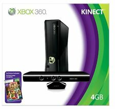 Xbox 360 4GB Console With Kinect Video Game Systems 2Z Very Good