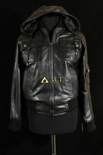Pilot 6 Lockheed Black Mens New Hooded Real Soft Lambskin Leather Jacket
