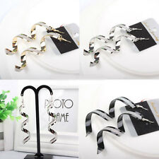 1Pair Punk LadiesTwist Spiral Shaped Drop Dangle Ear Hook Earring Jewelry Gift