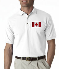 Canadian Flag Canada Pride Hockey Embroidered Polo Shirt S-3XL 8 Colors