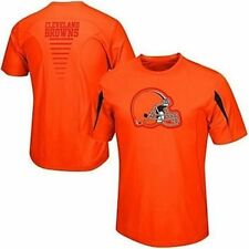 Cleveland Browns Majestic Big Logo Synthetic Orange Shirt Mens Big & Tall Sizes