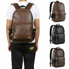 Unisex PU Leather Backpack Daypack Laptop Tablet Backpack Campus Rucksack