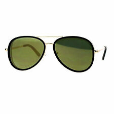Flat Mirror Lens Sunglasses Designer Fashion Side Cover Aviators