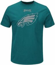 Philadelphia Eagles Majestic Skill In Motion Mens Teal Shirt Big & Tall Sizes