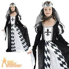 Childrens Chess Queen Costume Girls Medieval Book Week Day Fancy Dress Outfit