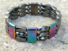 Men's SPORTSMAN SERIES 100% Magnetic Hematite RAINBOW TRIPLE Bracelet