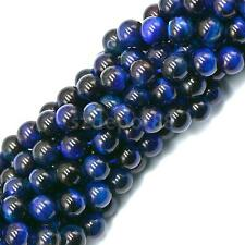 """Natural Gemstone Blue Round Spacer Beads Strand 15"""" For Jewelry Making Beads"""