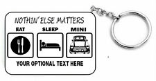 EAT SLEEP MINI gift KEYRING for classic BL Austin Cooper car  - key ring chain