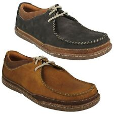 TRAPELL PACE MENS CLARKS LACE UP NUBUCK LEATHER EVERYDAY CASUAL SHOES