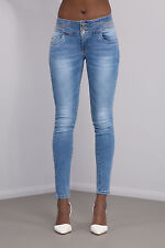 New Women Ladies Light Blue Sexy jeans Skinny Leg Stretch Denim Size 6-14