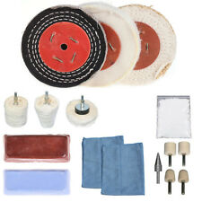 "16Pcs 3""/4""/5""/6"" X 1/2"" Alloy Wheel Polishing Mop Polishing Wheel Polishing Pad"