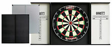 ONE80 ALUMINUM DARTBOARD CABINET - BLACK / SILVER - QUALITY PRODUCT