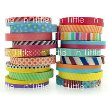 7mm Colorful Washi Tape Masking Adhesive Roll Decorative Card Craft Easy Tear
