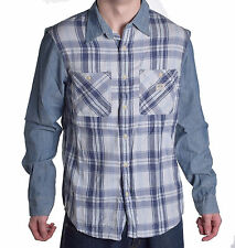 Ralph Lauren Denim & Supply Men's Indigo Plaid Blue Button Up Shirt