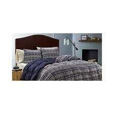 Down Alternative Comforter Set 3Pc Bed In A Bag Plaid Microsuede Teens Kids