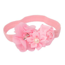 Baby Girl Hairband Lace Pearl Flower Headband Elastic Headpiece Hair Accessories
