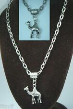 20or 24 Inch Arab Arabian Camel Pendant Charm & Chain Necklace One Hump