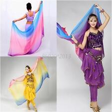 Colorful Belly Dancing Imitation Silk Headscarf Gradient Color Soft Shawl Veil
