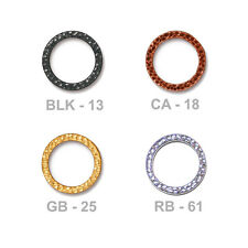 TierraCast 19mm Hammertone Ring Link - plated pewter - choose from 4 finishes