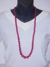 Vintage Cherry Red Bakelite Necklace 15""