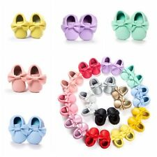 Cute Toddler Infant Boy Girl Moccasin Crib Shoes Baby Soft Sole PU Leather Shoes