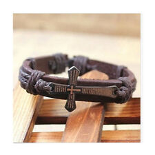 Fashion Unique Men's Cuff Surfer Tribal Hemp Cross Wrap Wrist Leather Bracelet