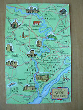 VINTAGE POSTCARD MAP - THE WYE VALLEY