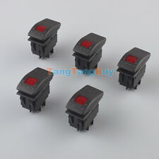5x 20A 12V Bar Carling Waterproof Rocker Toggle Switch ON/OFF LED Light Car Red
