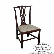 Antique Solid Mahogany Chippendale Style Side Chair