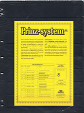 PRINZ System Stamp Storage 8 Strip - One Sided Pages - FREEPOST -