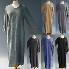Flax Jeanne Engelhart Artsy Lagen Look Woven 100% Linen Tunic Dress New Sz P-M