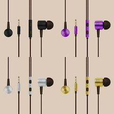 Earphones Bass Stereo Headphones Headset Earbuds With Microphone 3.5mm In-Ear